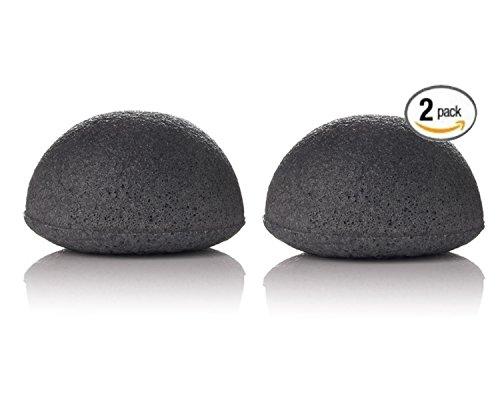 Bambù carbone Konjac Sponge- detoxifying, esfoliante bellezza spugne Confezione da 2