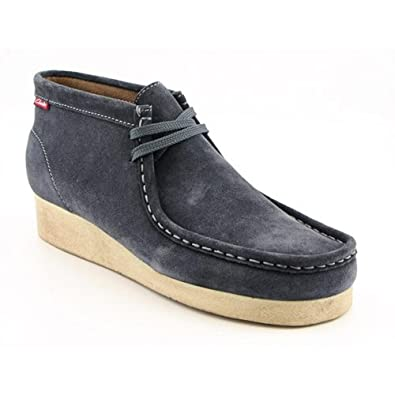 Clarks Padmore Mens SZ 10 Gray Steel Blue Casual Boots Shoes