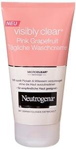 Neutrogena Visibly Clear Pink Grapefruit tägliche Waschcreme, 3er Pack (3 x 150 ml)