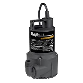 Wayne RUP160 1/6-Horsepower 3,000 GPH Oilless Submersible Utility Water Pump
