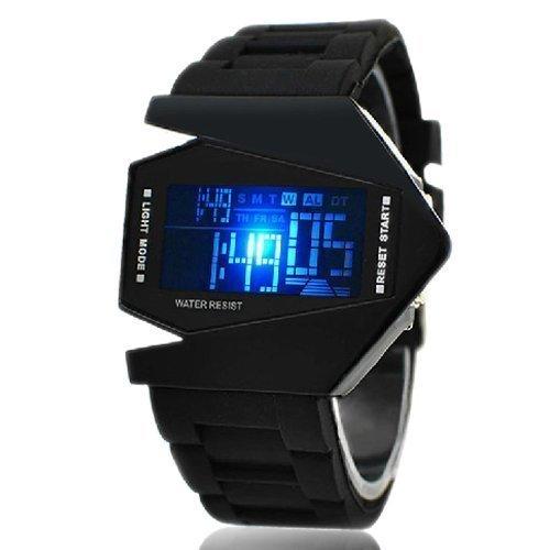 elegante-reloj-digital-con-forma-de-avion-de-combate-en-silicona-negra