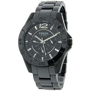 Fossil Women's CE1003 Black Ceramic Bracelet Black Analog Dial Multifunction Watch