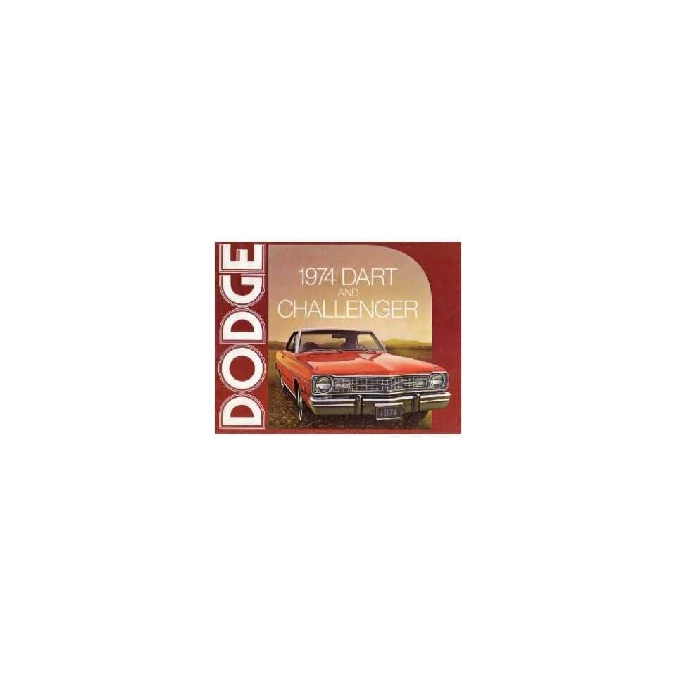 1974 Dodge Challenger Sales Brochure Literature Advertisement Options Specs