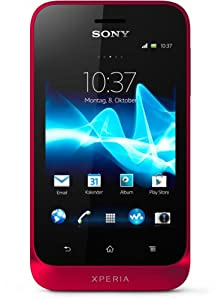 Sony Xperia tipo Smartphone (8,1 cm (3,2 Zoll) Touchscreen, 3,2 Megapixel Kamera, Android 4.0) rot