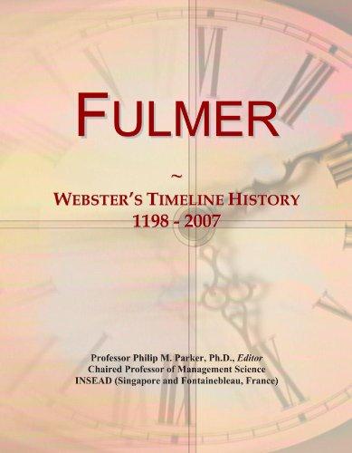 Fulmer: Webster's Timeline History, 1198 - 2007