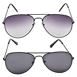 CRIBATM Stylish Combo Pack of 2 Aviators in Low Price