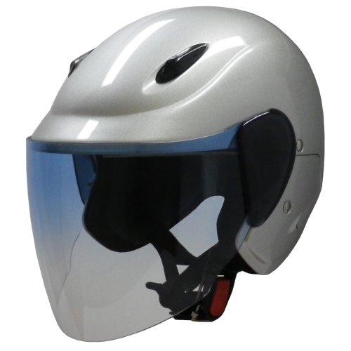 マルシン工業 セミジェットヘルメット M-510 シルバー フリーサイズ(57~60CM)