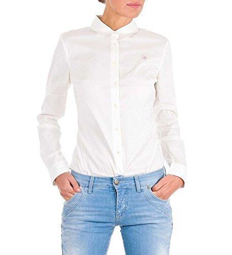 US Polo ASSN USA Polo BODY a maniche lunghe T-shirt maglia a maniche lunghe Logo USPA long Shirt Amelie bianco M