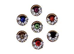 Sunaina Premium Collection Multicolor Medium Size Round Bindis for Women [SPC542]
