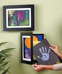 Easy Change Artwork Frame - Black - Fits 85 X 11 Artwork Frame Measures 135 X 11 X 1 34 by LCL
