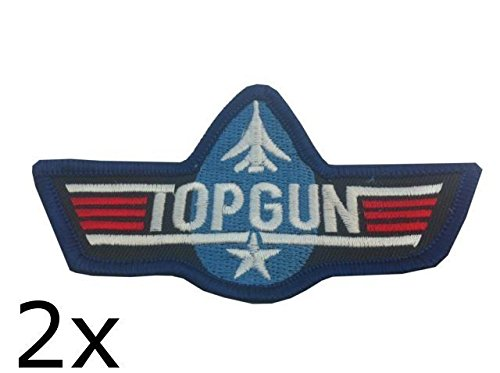 2-x-us-usa-top-gun-topgun-badge-patch-air-force-military-patch