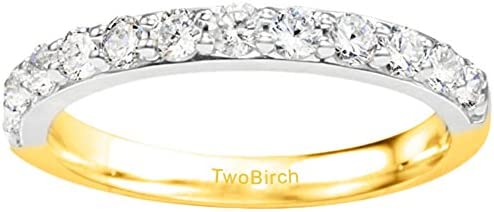 Silver Amazing Anniversary Wedding Ring with Diamonds 015 ct twt