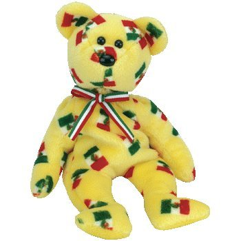 Pinata the Beanie Baby Bear with Black Nose - 1