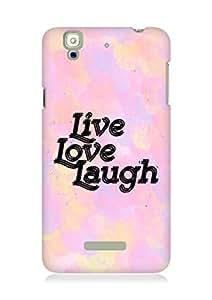 Amez Live Love Laugh Back Cover For YU Yureka