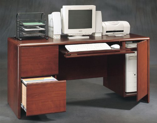 Classic Cherry Computer Credenza Cornerstone Cherry Collection by Sauder Office Furniture - 107334