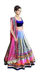 Sanjana bollywood style designer lehenga choli/heavy embroidered lehenga choli/partywear lehenga choli (Blue_sc21)