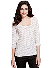 Per Una Diamond Ripple Top