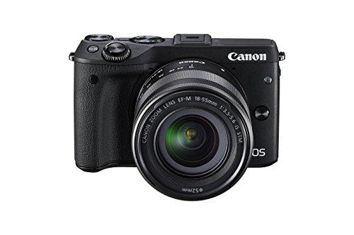 Canon-EOS-M3-Fotocamera-Mirrorless-Digitale-242-Megapixel-con-Obiettivo-EF-M-18-55-mm-STM-Nero