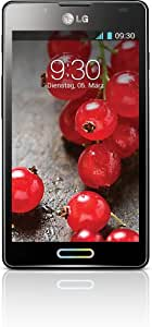 LG P710 Optimus L7 II Smartphone (10,9 cm (4,3 Zoll) Touchscreen, 1GHz, Dual-Core, 4GB, 768MB RAM, 8-Megapixel-Kamera, Android 4.1) glänzend-schwarz