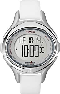 Timex Women's T5K499 Ironman All Day 50-Lap White Silicone Strap Watch