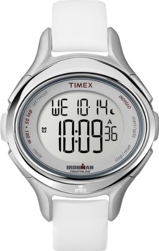 Timex Women's T5K4999J All Day 50-Lap Ironman Oval Case Silicone Strap Watch