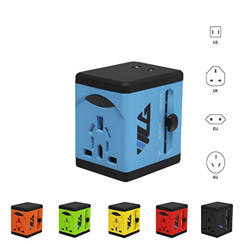 #1 Rated Travel Adapter and Charger - USB Charging Ports - All International Standard Cell Phone/Desktop/Laptop/Touch Screen Tablet/Computer/GPS Chargers