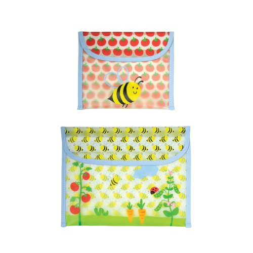 green sprouts Garden Sandwich and Snack Bag, Blue Bumble Bee, 12 Months, 2-Count - 1