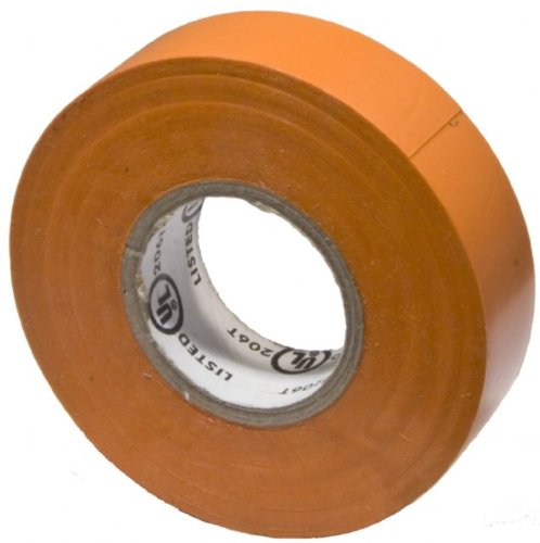 """Morris Products 60070 Polyvinylchloride General Purpose Electrical Tape, 8 Kv Dielectric Strength, 60' Length X 3/4"""" Width, Orange"""