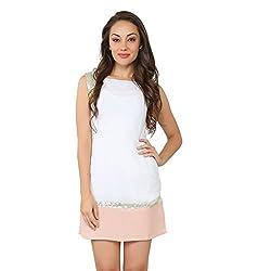 Tong White Dress Polyester for Women