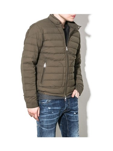 Moncler Moncler Men's ACORUS Zip-up Spring Goose Down Jacket Khaki 4 (IT) L (US)