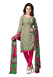 Jevi Prints Womens Synthetic Unstitched Dress Material (Renuka 4362 _Green)