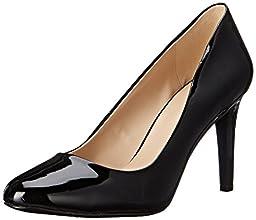 Nine West Women\'s Handjive Synthetic Dress Pump, Black, 7.5 M US