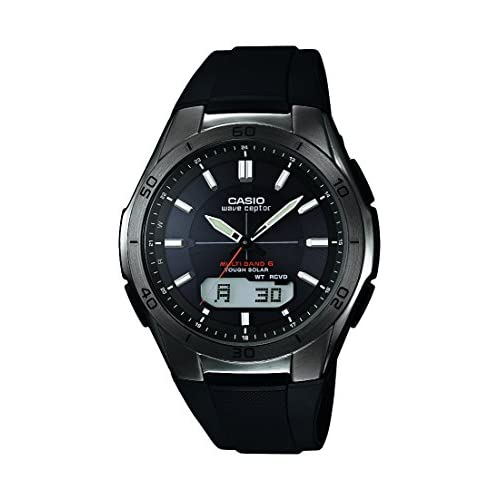 Casio Men's Quartz Watch with Black Dial Analogue - Digital Display and Black Resin Strap WVA-M640B-1AER