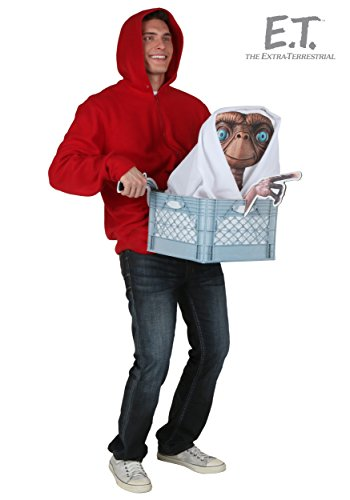 Adult E.T. Elliott Costume Kit. Includes Sweatshirt, Blanket and E.T. Cutout.