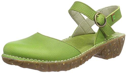 El NaturalistaYGGDRASIL - Sandali Donna, colore verde (green), taglia 38 EU (5 UK)