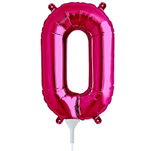 Foil Letter Balloons Amazon Amazoncom 16 Inch Letter O Magenta Air Filled Foil