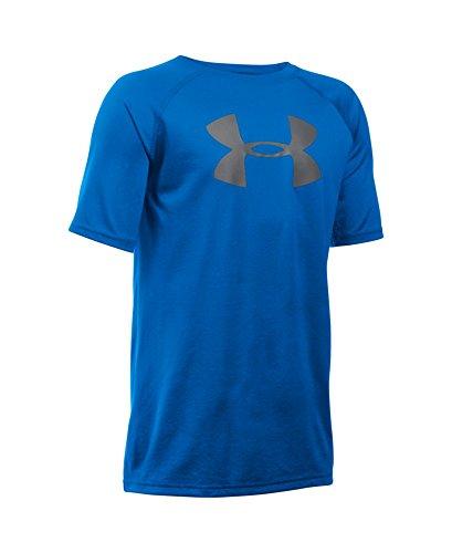 Under Armour Boys' Tech Big Logo T-Shirt, Ultra Blue (907), Youth X-Large