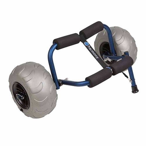 Harmony Gear Stowaway Cart with Beach Wheels (Wide Pneumatic Tires)