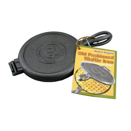 Rome Old Fashioned Waffle Iron Cast Iron Camping Cookout Outdoor/Indoor New