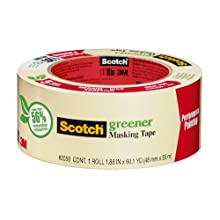 3M Scotch Masking Tape for General Painting, 1-Inch by 60-Yard, 1-Pack