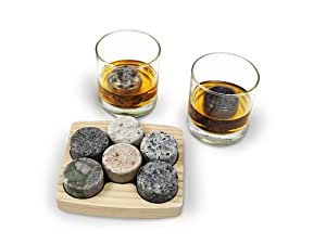 Sea Stones On The Rocks, Granite Chillers with 2 Free 10-Ounce Tumblers