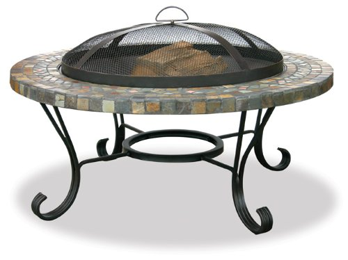 Uniflame WAD931SP Slate/Tile Outdoor Firebowl with Copper Accents
