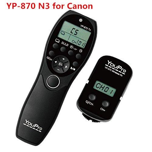 ELEOPTION YouPro YP-870/N3 Wireless Shutter Timer Remote for Canon EOS 50D, 40D, 30D, 20D, 20Da, 10D, 7D, 6D, 5D Mark III, 5D Mark II, 5D, 1DX, 1Ds (YP-870 N3) (Canon Sx50 Hs Remote compare prices)