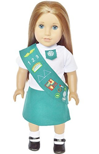 JUNIOR GIRL SCOUTS OUTFIT FOR 18 INCH AMERICAN GIRL DOLLS