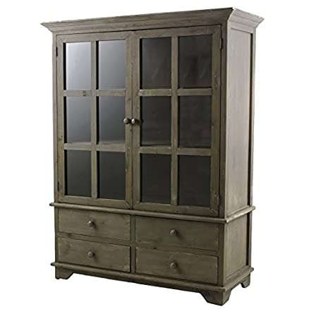 Scaffale di cucina o sala da pranzo credenza armadio libreria in legno 42x 99x 128cm