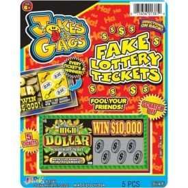 Jokes & Gags Fake Lottery Tickets 5 Pack
