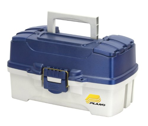 Plano 2-Tray Tackle Box with Dual Top Access, Blue Metallic/Off White (Tackle Tray compare prices)