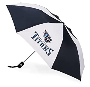 Buy McArthur Sports Tennessee Titans Automatic Folding Team Umbrella by WinCraft
