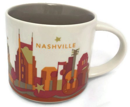 Starbucks You Are Here Collection Nashville 14-Oz Coffee Mug 2013