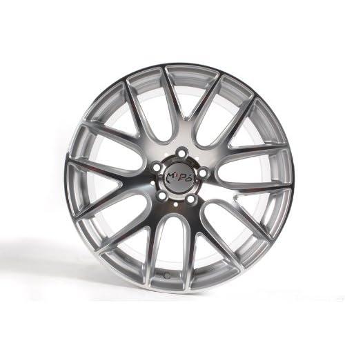 Wheels Rims 19x8.5 & 19x9.5 BMW 3 5 Series Hyper Silver W. Machine
